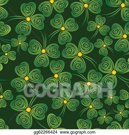 Vector Clipart Shamrock Background Vector Illustration