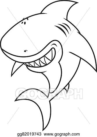 Stock Illustration - Shark coloring book illustration. Clip Art ...