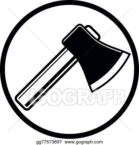 Vector Stock Sharp Axe Symbol Woodcutter Tool Simple Hatchet