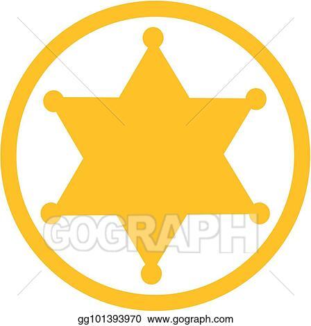vector illustration sheriff star icon eps clipart gg101393970 rh gograph com sheriff badge clip art free sheriff badge clipart black and white