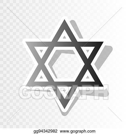 shield magen david star symbol of israel vector new year blackish icon on transparent background with transition