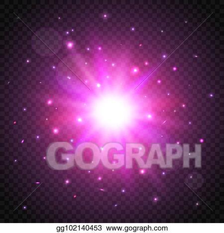 Vector Art - Shine cosmic star on transparent background