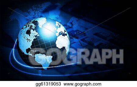 Stock illustration shining blue world map globe with calculator shining blue world map globe with calculator gumiabroncs Image collections