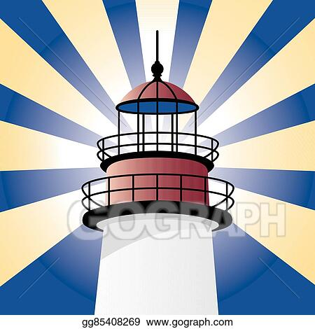vector clipart shining lighthouse vector illustration gg85408269 rh gograph com Animated Lighthouse Clip Art Lighthouse Clip Art Color Prints