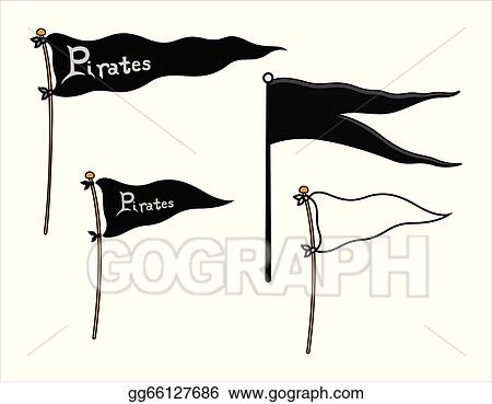 vector art ship flags pirates and peace clipart drawing rh gograph com Pirate Flag Outline Pirate Flag Logo