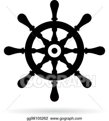 vector stock ship steering wheel vector icon stock clip art gg98105262 gograph https www gograph com clipart license summary gg98105262