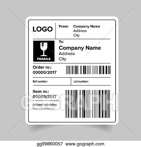 vector stock shipping label template clipart illustration