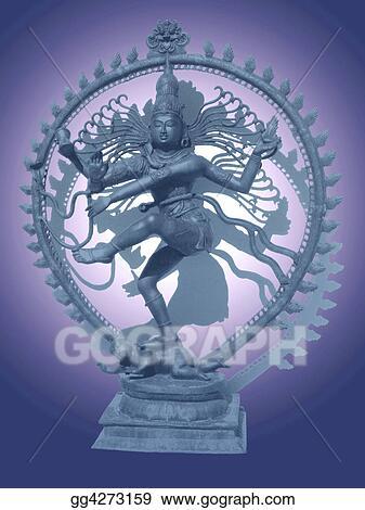 Drawing - Shiva nataraja  Clipart Drawing gg4273159 - GoGraph
