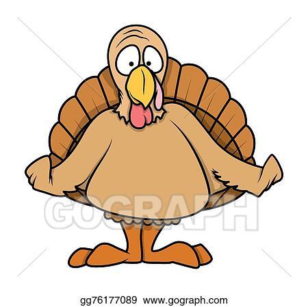 Vector Stock Shocked Cartoon Turkey Bird Stock Clip Art