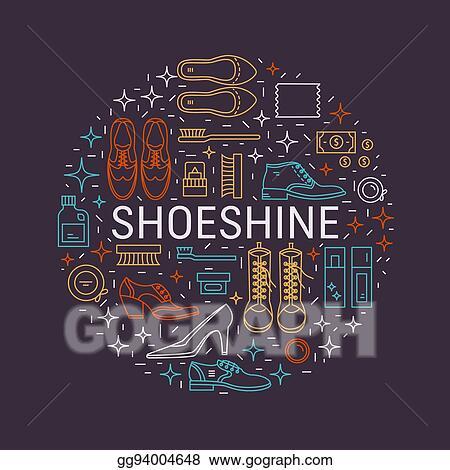 1448b5b93a Vector Stock - Shoeshine vector icons. Stock Clip Art gg94004648 ...