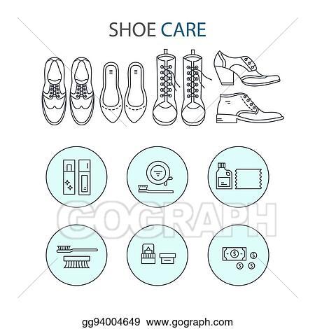 4a86f3733b Vector Stock - Shoeshine vector icons. Stock Clip Art gg94004649 ...