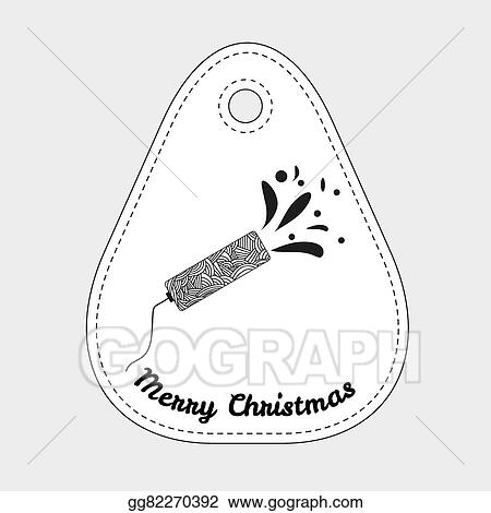 Shooting Slapstick With Abstract Doodle Pattern Celebration Sign Christmas Collection
