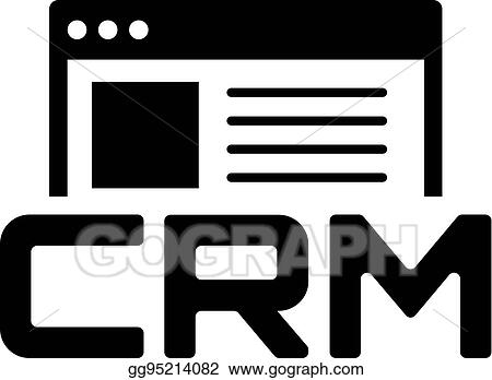 Clip Art Vector Shop Crm System Icon Flat Design Stock Eps