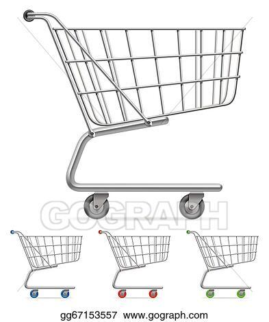 Eps Illustration Shopping Cart Vector Clipart Gg67153557 Gograph