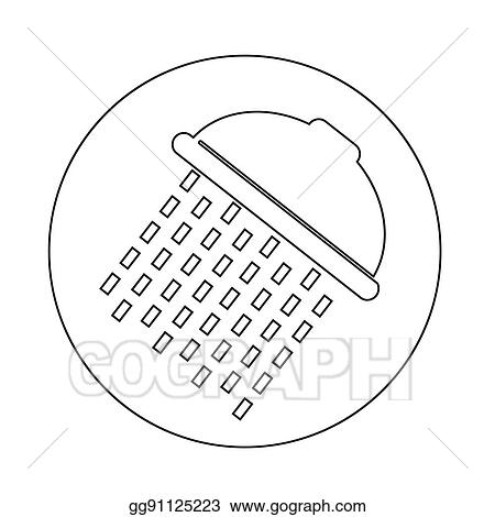 Vector Art Showerhead Icon Clipart Drawing Gg91125223 Gograph