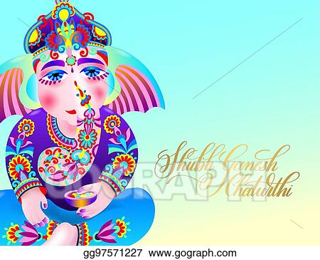 Vector art shubh ganesh chaturthi greeting card to indian shubh ganesh chaturthi greeting card to indian celebration m4hsunfo