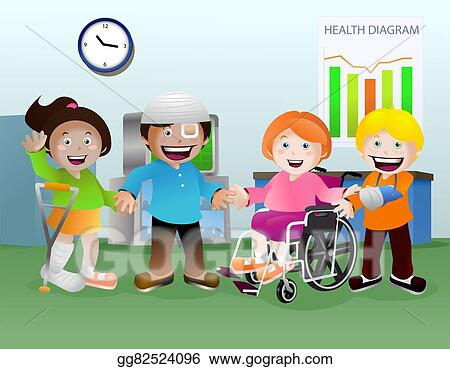 Drawing Sick Kid On Hospital Room Clipart Drawing