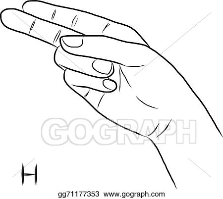 Sign Language And The AlphabetThe Letter H
