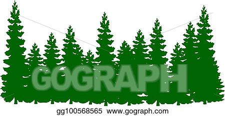 Vector Clipart Silhouette A Lot Of Green Christmas Tree Cartoon On A White Background Vector Illustration Gg100568565 Gograph ✓ free for commercial use ✓ high quality images. green christmas tree cartoon