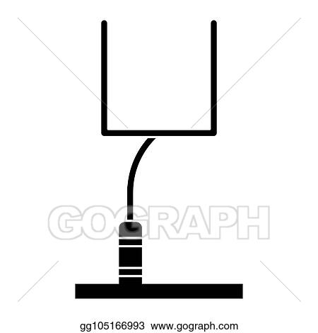 vector art silhouette american football goal post eps clipart rh gograph com field goal post clipart rugby goal post clipart