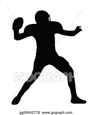 Vector Art Silhouette American Football Quarterback Throw Clipart