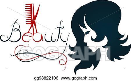 vector art silhouette for beauty salon and hairdresser clipart rh gograph com beauty salon clipart png beauty salon clip art images