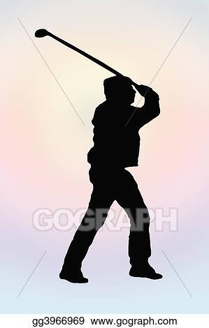 silhouette golf swing