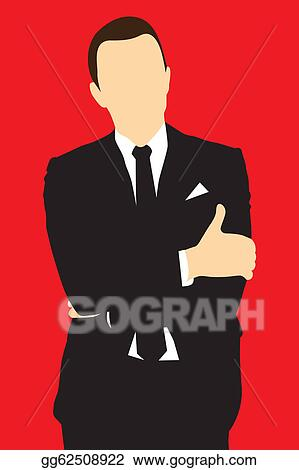 Vector Art Silhouette Men In Suit Clipart Drawing Gg62508922