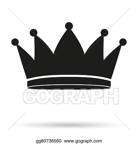 stock illustration silhouette simple symbol of classic royal king rh gograph com king crown clipart no background king crown clipart black and white