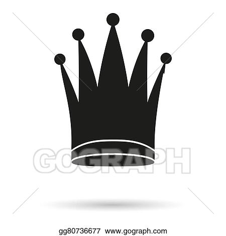Stock Illustration Silhouette Simple Symbol Of Classic Royal Queen