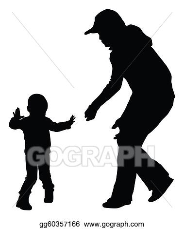clip art silhouettes of mother and toddler learning to walk vector eps8 stock illustration gg60357166 gograph https www gograph com clipart license summary gg60357166