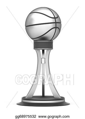 Silver Award Basketball Trophy Cup