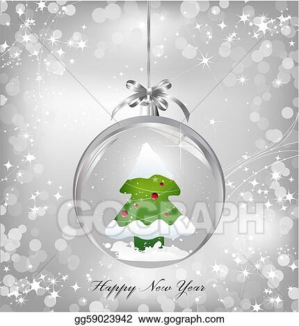 Vector Illustration Silver Of Empty Snowglobe With Christmas Tree Stock Clip Art Gg59023942 Gograph The tree that mickey and pluto chop down to bring home for christmas is the tree that chip 'n dale live in. gograph
