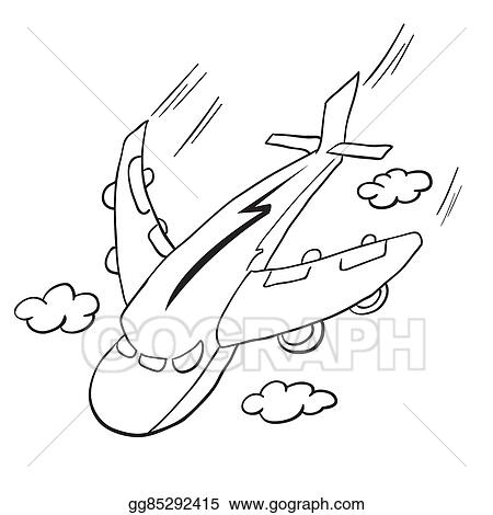 cartoon simple airplane clipart