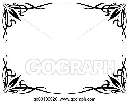 simple frame tattoo. Delighful Simple Simple Black Tattoo Ornamental Decorative Frame On Simple Frame Tattoo D