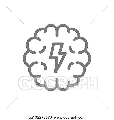 vector art simple brain and mind line icon symbol and sign vector illustration design isolated on white background eps clipart gg102273576 gograph https www gograph com clipart license summary gg102273576