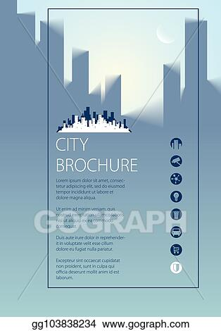 eps vector simple city traveling tourist guide book brochure