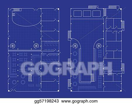 Vector art simple nightclub blueprint eps clipart gg57198243 simple nightclub blueprint malvernweather Images