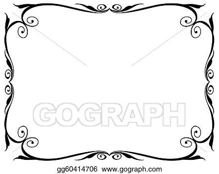 Vector Illustration - Simple ornamental decorative frame. EPS ...