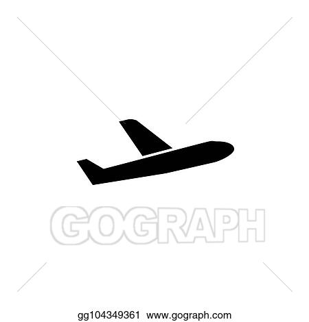 Vector Art Simple Plane Sign Back Isolated Icon Clipart Drawing