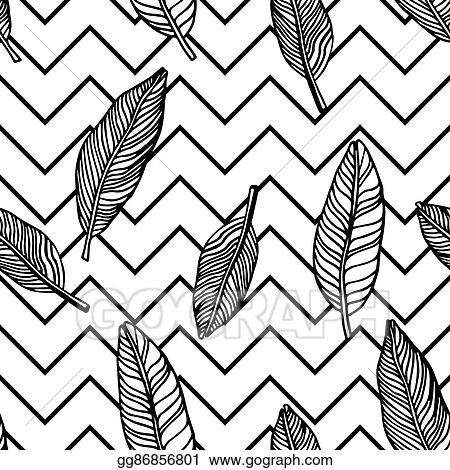 Vector Clipart - Simple seamless tropical jungle floral pattern