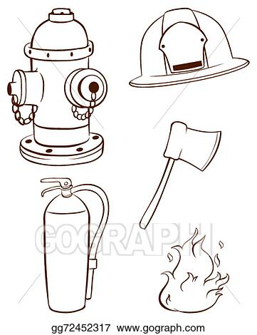vector illustration simple sketches of the things used by a