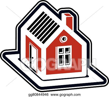vector art simple village mansion icon vector abstract house rh gograph com mansion clip art free mansion clipart black and white