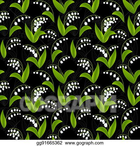Clip Art Vector Simplified Image Of Spring Flower Lily Of The