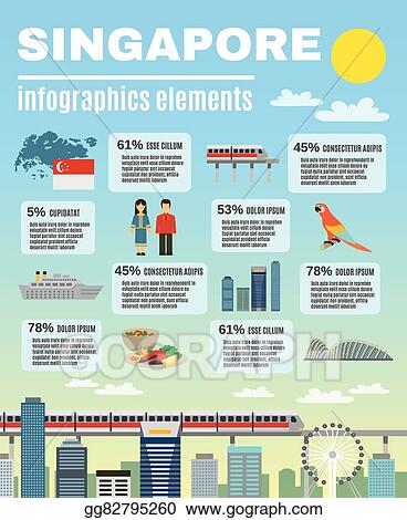 vector stock singapore culture infographic presentation layout