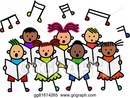clip art singing kids stock illustration gg81614265 gograph rh gograph com