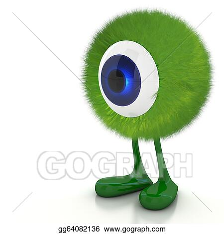 Stock Illustration Single Eye Monster Clipart Illustrations