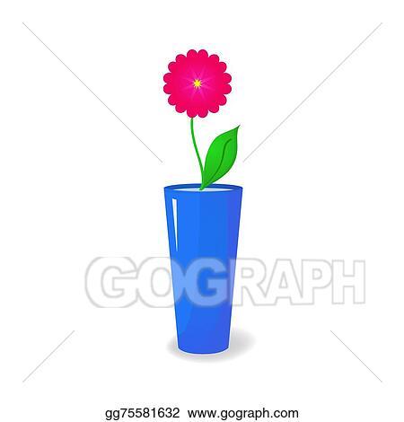 Vector Illustration Single Flower In Vase Eps Clipart Gg75581632
