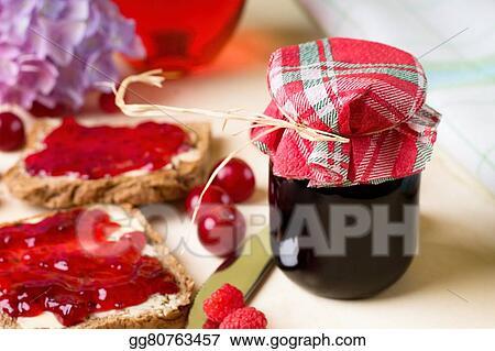 Single jar with homemade marmalade