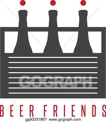 Eps Vector Six Pack Beer Bottles With Abstract Humans Vector Design Template Stock Clipart Illustration Gg90331867 Gograph